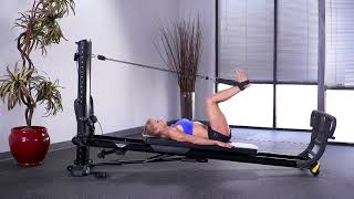 Squat with Leg Pulley