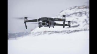 FPV Mavic Air 2, a bit snow landscape sport mode speed flight