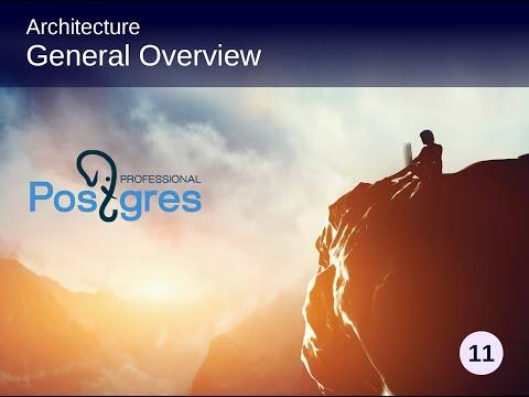 PostgreSQL DBA 1, Topic 2, Architecture - General Overview ...