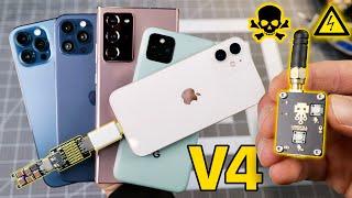 USB Killer V4 vs iPhone 12/12 Pro, Note 20 Ultra, Pixel 5 & More! Instant Death?
