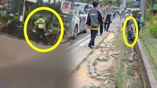 Aksi Arogan Polisi Tendangi Motor Driver Ojol hingga Masuk Parit, Terungkap Penyebabnya