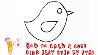 How To Draw Cute Bird 123vid