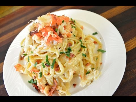 Cameren's Crab and Bacon Fettuccine Alfredo  Cooking With Carolyn