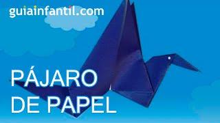 Haz un pájaro de papel que mueve las alas, origami