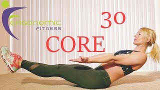 30 MINUTE CORE AT HOME WORKOUT - NO EQUIPMENT