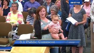 Santa Cruz County Board of Supervisors 8/7/18