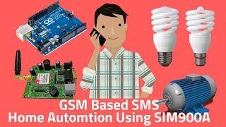 Arduino SIM900A GSM Home Automation