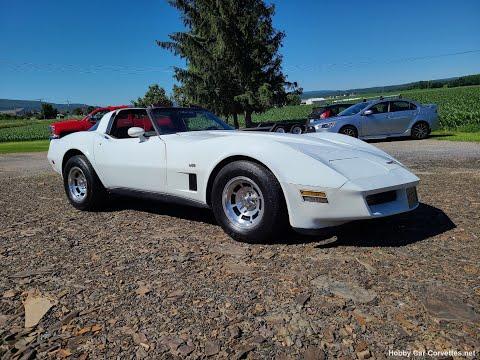 1980 White L82 Corvette Claret Int For Sale Video
