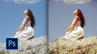 Ретро эффект фотографии в фотошопе