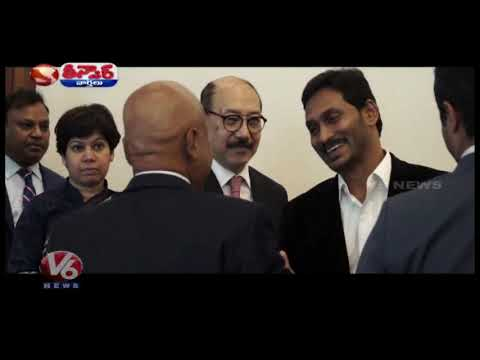 CM YS Jagan In America Tour |  | Teenmaar News |  V6 Telugu News