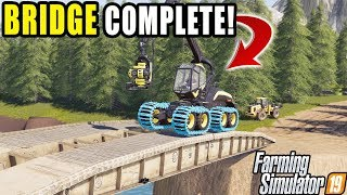 BEATING SQUAD IN BRIDGE BUILDING! | FARMING SIMULATOR 2019 | MULTIPLAYER