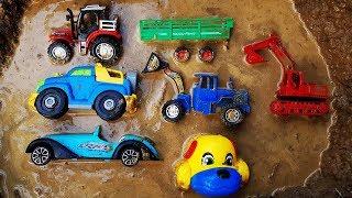 Fine Toys Construction Vehicles For Kids Under The Mud - Excavator Dump Truck Wheel Loader