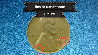 How to authenticate a 1914-d penny