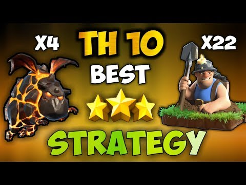 Immortal queen lavaloon + mass miners th10 best new meta attack