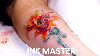 Bouquet Of Flowers Knock Out Official Highlight | Ink Master: Grudge Match (Season 11)