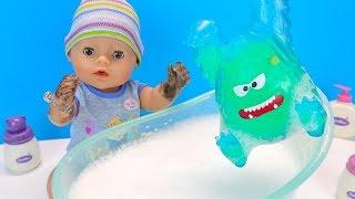 МИША НЕ ВЕРИТ В МИКРОБОВ Куклa #БебиБон Maльчик Учится Мыть Руки Играем Как Мама