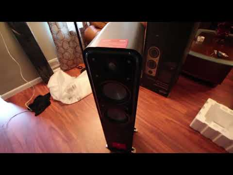 Polkaudio signature series s55 open box and setup