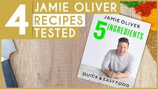 4 Easy Recipes From Jamie Oliver - 5 Ingredients Cookbook (So Darn Delicious!)