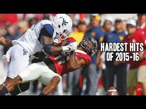 Hardest Hits of the 2015-16 College Football Season    Part 1 ᴴᴰ