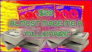 """$20 ALMOST MADE ME A """"MILLIONAIRE"""""""