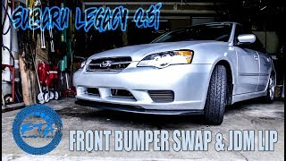 homepage tile video photo for 2006 Subaru Legacy Front Bumper Removal and Install with JDM Front Lip