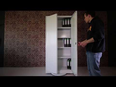 Lüllmann Aktenschrank weiß 530347 / 530337 Praxisschrank Metallschrank abschließbar Büroschrank weiß