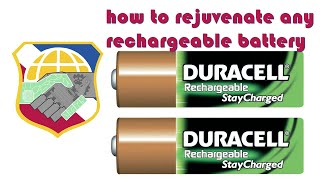 how to fix a dead rechargeable battery - revive restore rejuvenate jump start any damaged batteries