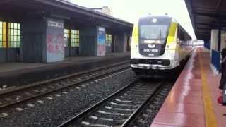 preview picture of video 'Gorzów Wielkopolski Dworzec Kolejowy PKP Pociąg Regio na Peronie'