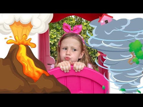 Nastya teaches weather and natural disasters