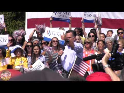 Mitt Romney Rally at Van Dyke Park in Fairfax, Va 9/13/2012