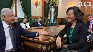 Ana Botín, presidenta de Grupo Santander, habla de las comisiones a las remesas
