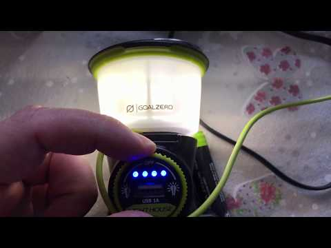 Review Goal Zero Lighthouse Mini Lantern 210 lm mit Powerbank Funktionalität