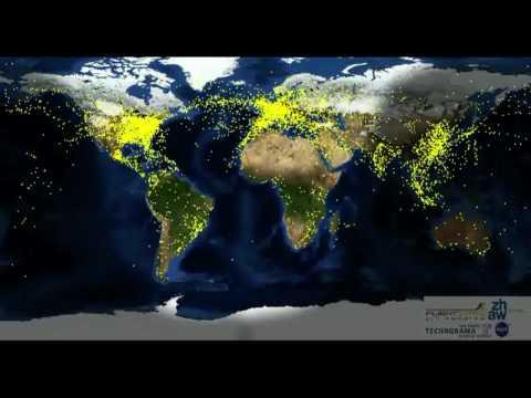 AirTraffic Worldwide  HD Qualität  Flugbewegung weltweit
