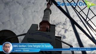 BMKG Serahkan 2 Sirine Tsunami Untuk Aceh Barat
