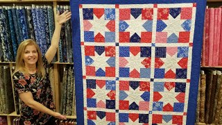 Donnas FREE Shooting Stars Quilt Pattern!