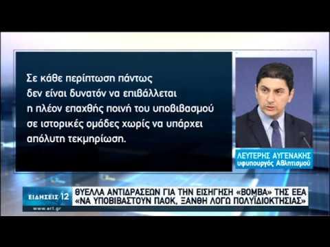 Θύελλα αντιδράσεων για την εισήγηση «βόμβα» της ΕΕΑ   28/01/2020   ΕΡΤ