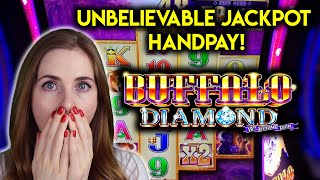 OMG! OVER 130 4X FREE GAMES ON BUFFALO DIAMOND! HOW BIG IS THIS JACKPOT HANDPAY GOING TO BE!?