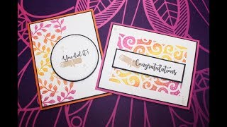 Bordered Stenciled Graduation Cards!