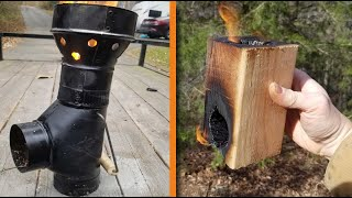 8 Simple Rocket Stoves - How to Make Simple Camping & Survival Stoves