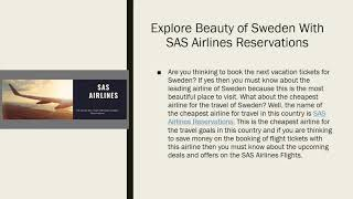 Explore Beauty of Sweden With SAS Airlines Reservations