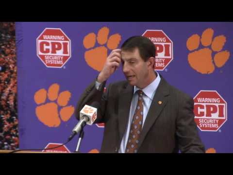 TigerNet.com - Dabo Swinney on 56-7 win over South Carolina - 11.26.2016