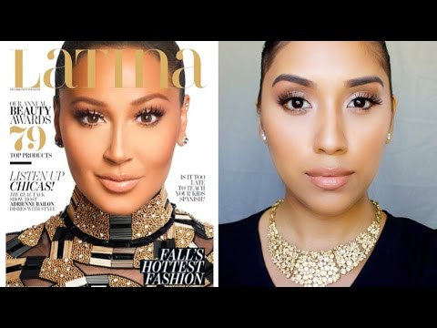 Adrienne Bailon Latina Magazine Makeup Tutorial | Bronze Eyes & Nude Lip