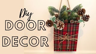 Diy Christmas Door Arrangement - Trash To Treasure
