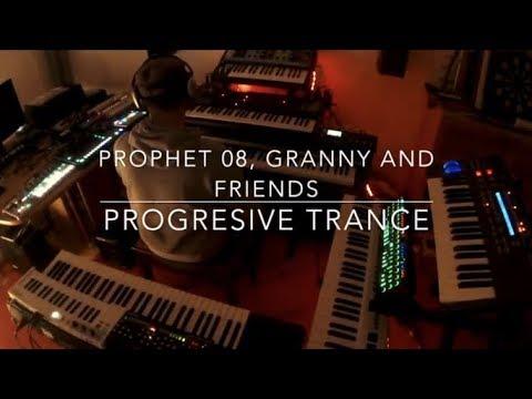 Moog Grandmother + DSI Prophet 08 + Ultranova = Progressive Trance #moog#davesmith#novation