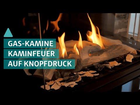 Kaminfeuer auf Knopfdruck - gemütlicher Gaskamin