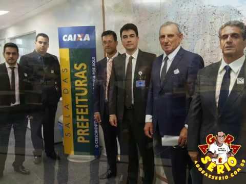 Prefeito Ayres Scorsatto e sua equipe em Brasília negociando dívida  do FGTS