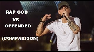 Eminem - Offended vs Rap God (FAST PART COMPARISON)