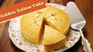 easy yellow cake recipe no baking powder