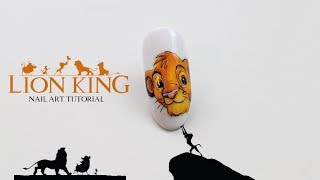 Disney Icon Nail Art Tutorial 🦁 Simba Lion King | Król Lew Krok Po Kroku