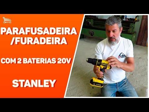 Parafusadeira/Furadeira de Impacto 1/2 Pol. com 2 Baterias 20V Lítio 1,3 Ah e Carregador Bivolt - Video